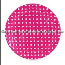 Polka Dot Party Supplies Ideas manufacturer Dots Spotted Spotty Spots Spot Polkadots Polka Dot Paper Party Plates Hot Pink