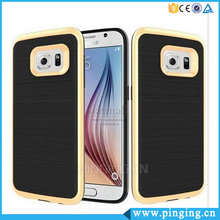 2 In 1 PC TPU Brushed Armor Cell Phone Case For Samsung S7 Edge Cover