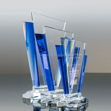Unique blank crystal trophy prize for corporate awards