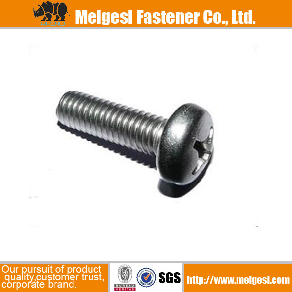 China fastener high quality cheaper price all sizes carbon steel zinc plated fine thread machine screw