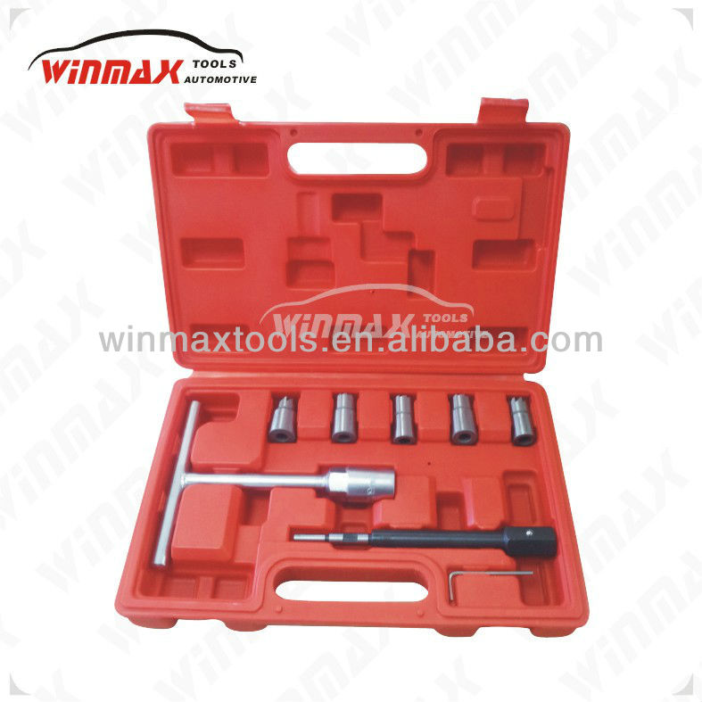 WINMAX 7PC Diesel Injector Seat Cutter Cleaner Tool Set Carbon Remover WT04777