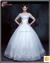 Lace trumpet short sleeve bridal gown pakistan wedding guest dress plus size