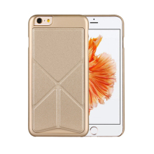 For iPhone 6 cellphone case hard pc case with pu transform kickstand cover new products looking for distributor