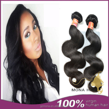 100 remy factory price bouncy healthy ethiopian human hair