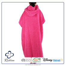 China supplier Quick-Dry microfiber Poncho Changing Robe, microfiber towel surf poncho