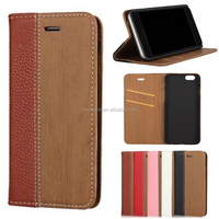 wood flip PU phone case cover with card slots for HTC desire one e9s A M X E D 10 9 8 7 + 728 620 626 816 828