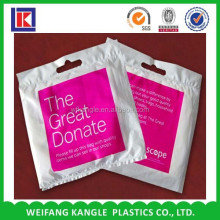 Charity bag for collecting cloth shoe