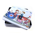 Romantic design square cosmetic tin boxes