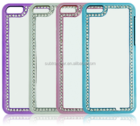 Hot selling Sublimation phone case with diamonds for iPhone 5C