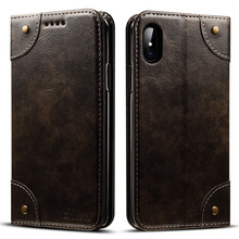 Flip Stand PU Leather Business Wallet Case For iPhone 8 Card Holder Solts Cover Cases For Apple iphone 7 7plus 6 6 plus