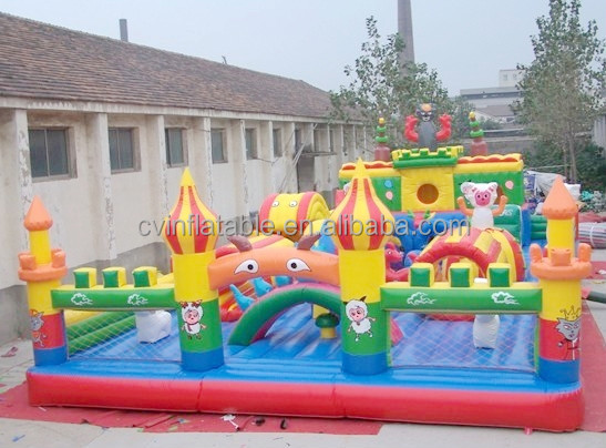 Large inflatable kids playland, inflatable fun city, inflatable playground for sales