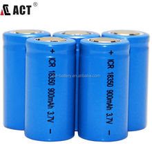 wholse sale torch light rechargeable battery / 3.7v 900mah li-ion battery / icr 18350 battery