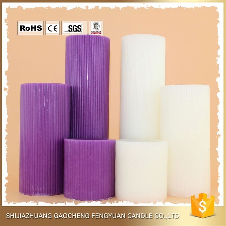China Alibaba unscented red 2 x 3 pillar candles
