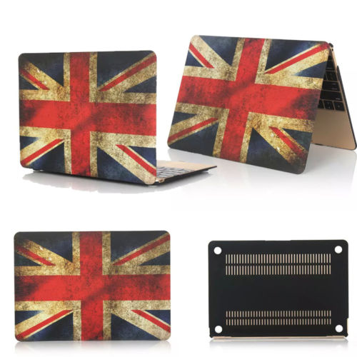 "UK USA Canada Flag Painted Hard Case for laptop Macbook Pro 13""15""Retina Air 11""13"""