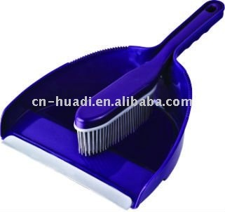 HD5001 Solid color plastic dustpan and broom set