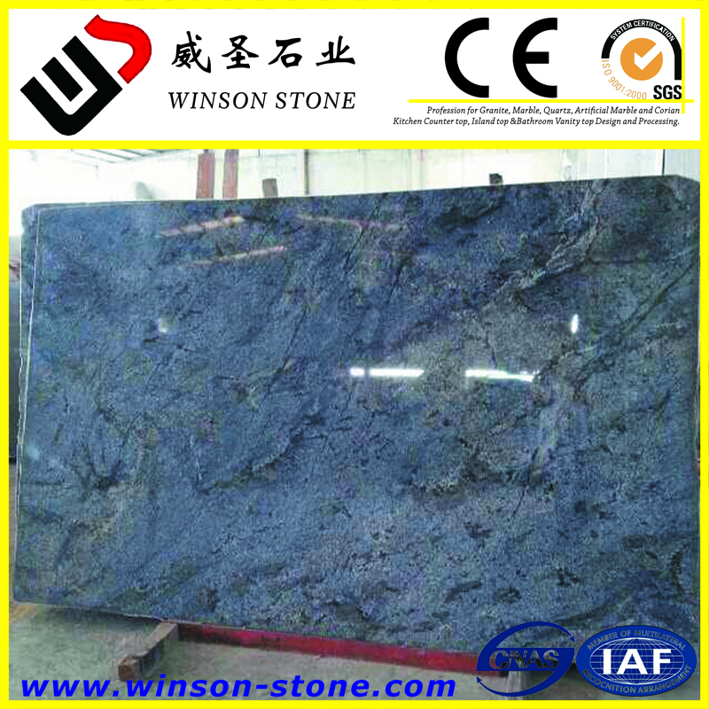 largest dimension is available luxury,rare blue granite Bahia Blue Azul Bahia polished gangsaw slab for sale