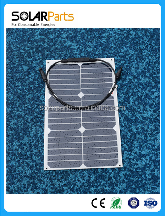 18W Light weight Semi flexible solar panel manufacturer in china