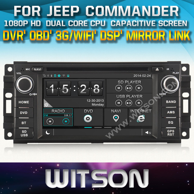 WITSON CAR GPS DVD FOR JEEP COMMANDER STEERING WHEEL CONTROL FRONT DVR CAPACTIVE SCREEN