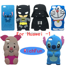 Hot 3D Lovely Cartoon Cuties Stitch Soft Silicon Back Cover Phone Case For Huawei Ascend P6 P7 P8 P9 Lite Y3 Y5 Y6 ii G7 G8