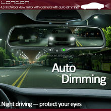 car reaview mirror auto dimming rearview monitor with car camera disply