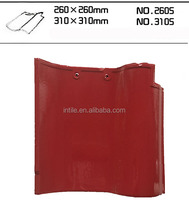Plain Roof Tiles Type and Clay Material spanish ceramic roof tiles 310 x 310