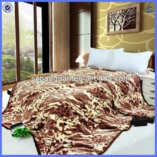 Acrylic mink fleece super soft double sided plush blanket wholesale
