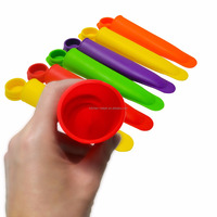 FAD High Quality frozen ice pop mould tray and BPA Free Colorful Popsicle Silicone Ice Pop Molds