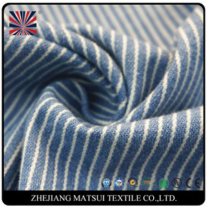 2017 new product cotton yarn denim stripe fabric for jeans
