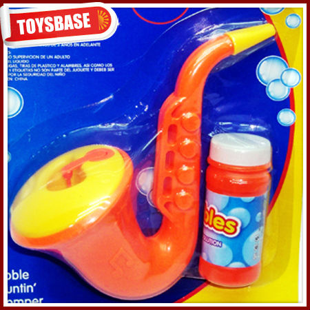 Bubble saxophone plastic bubbles toy