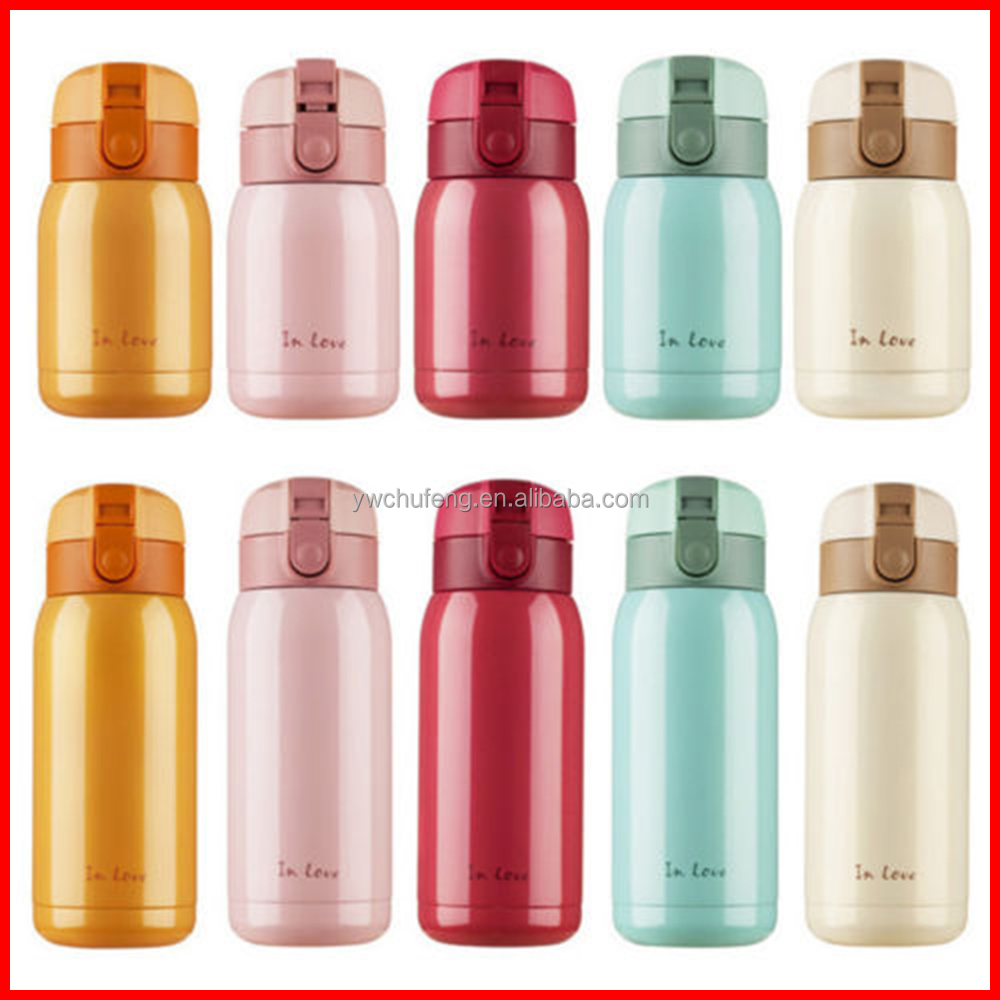 Stainless Steel Water Bottle Vacuum Flask Bike/<strong>Sports</strong>/Baby/Girls Colors Hot Cold
