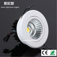 High quanlity Recessed LED retrofit COB Downlight 7w 9w with Dimmable Driver