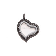 Fashion Style Plated more Color Heart Shape Memory Floating Locket for Teenagers with Wholesale