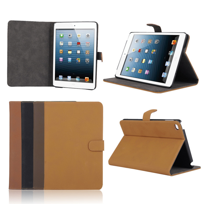 Most Popular Vintage Style PU Leather Flip Case for iPad Mini 4, For iPad Mini 4 Flip Case