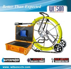 WITSON Video Snake Pipe & Wall Inspection System with 50mm self-leveling camera head,60m/120m fiberglass cable