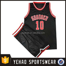 Unique full sublimated design cheap basketball league jersey