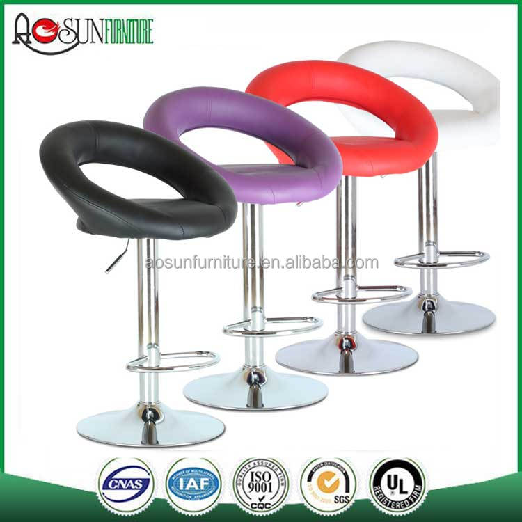 New Design PU Swivel Bar Stool Modern Leather Bar Stool For Sale