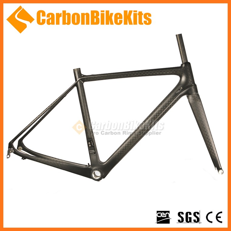 Custom logo toray t800 700c road carbon bikes frame with fork fit DI2 BSA/BB30/PF30
