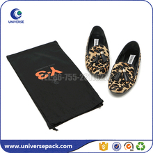 Wholesale organic cotton fabric shoe bag with drawstring