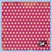 Class Chic High Quality Dotted Scrapbook Paper with Colorful Pattern CC120012