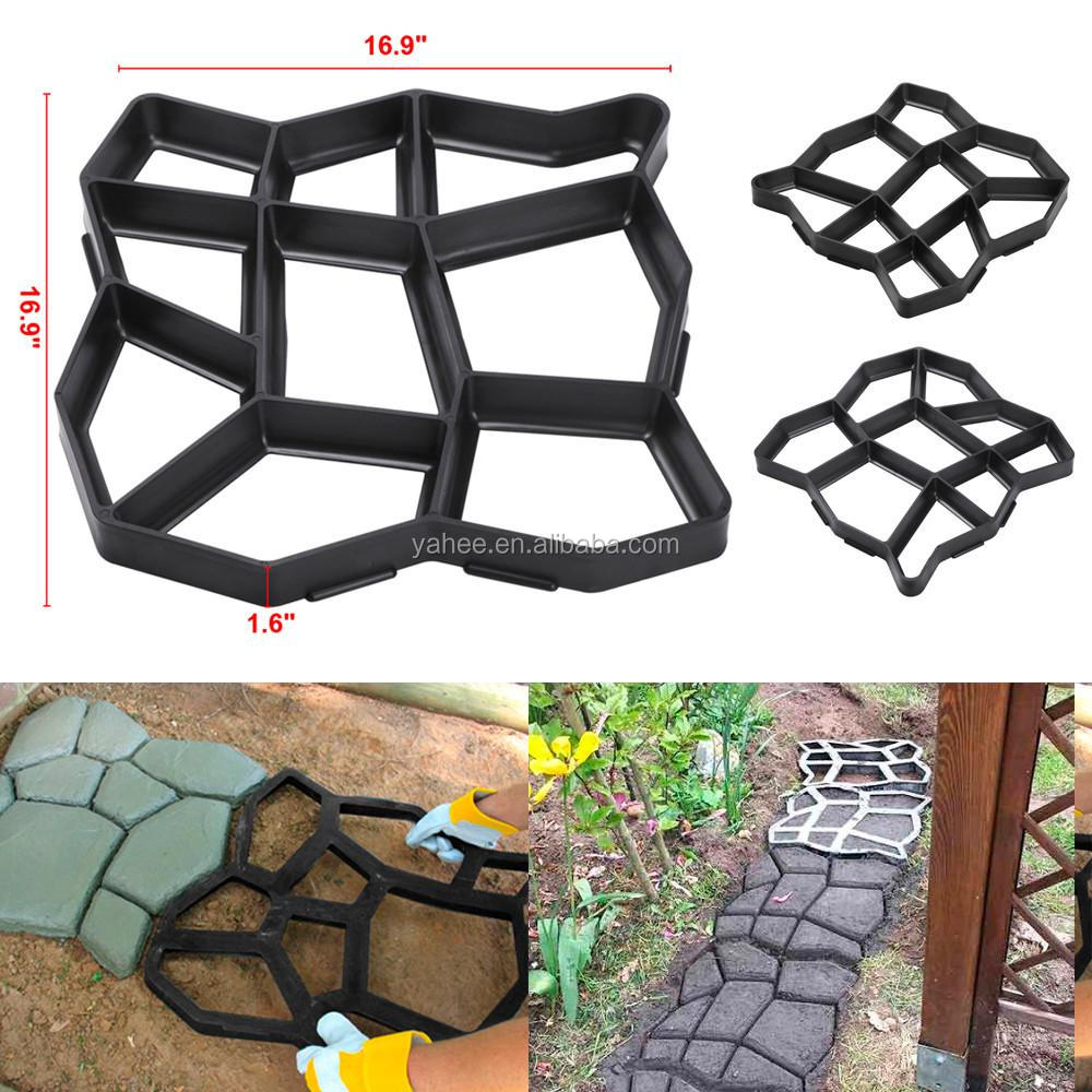 Plastic Pathmate Walk Way Paver Concrete Stone Mould Paving Mold Stepping