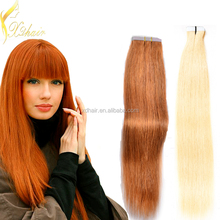 2016 Popular hot selling factory 100% real European remy double drawn russian hair 2.5g/piece tape hair extension