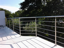 316 stainless steel handrail design for stairs balcony deck