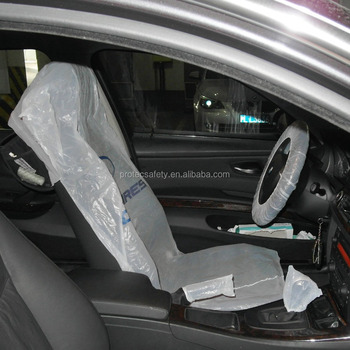 Clear Disposable Plastic Car Seat Covers