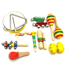 2018 wholesale toy musical instrument wooden music instrument set for kids with backpack