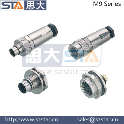 M9 connector 2pin, 3pin, 4pin, 5pin, 6pin, 7pin, 8pin waterproof connector
