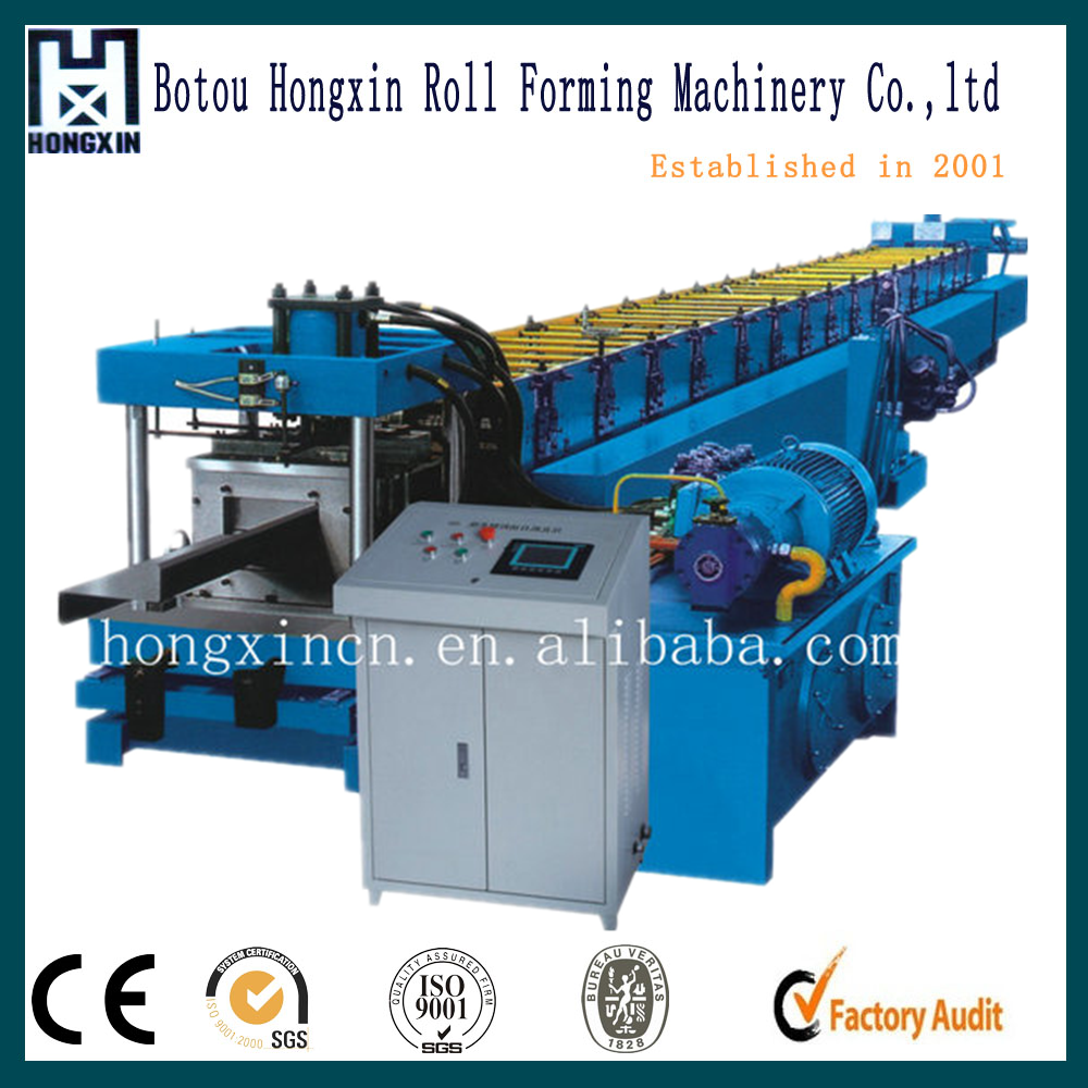 18-20Mpa Gcr 15 Z purlin roll forming machine with 15 rows Rollers / PLC vector inverter