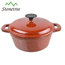 China new design popular cookware enamel coated cast iron cooking metal pot