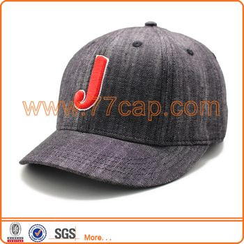 6 Panel Short Brim Jeans Baseball Caps Bulk