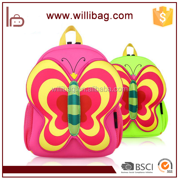Kindergarten Baby Backpack Printed Child School Bag With Butterfly