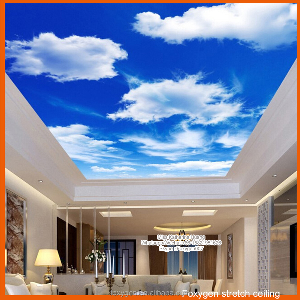 new pop ceiling designs of pvc film for stretch ceiling